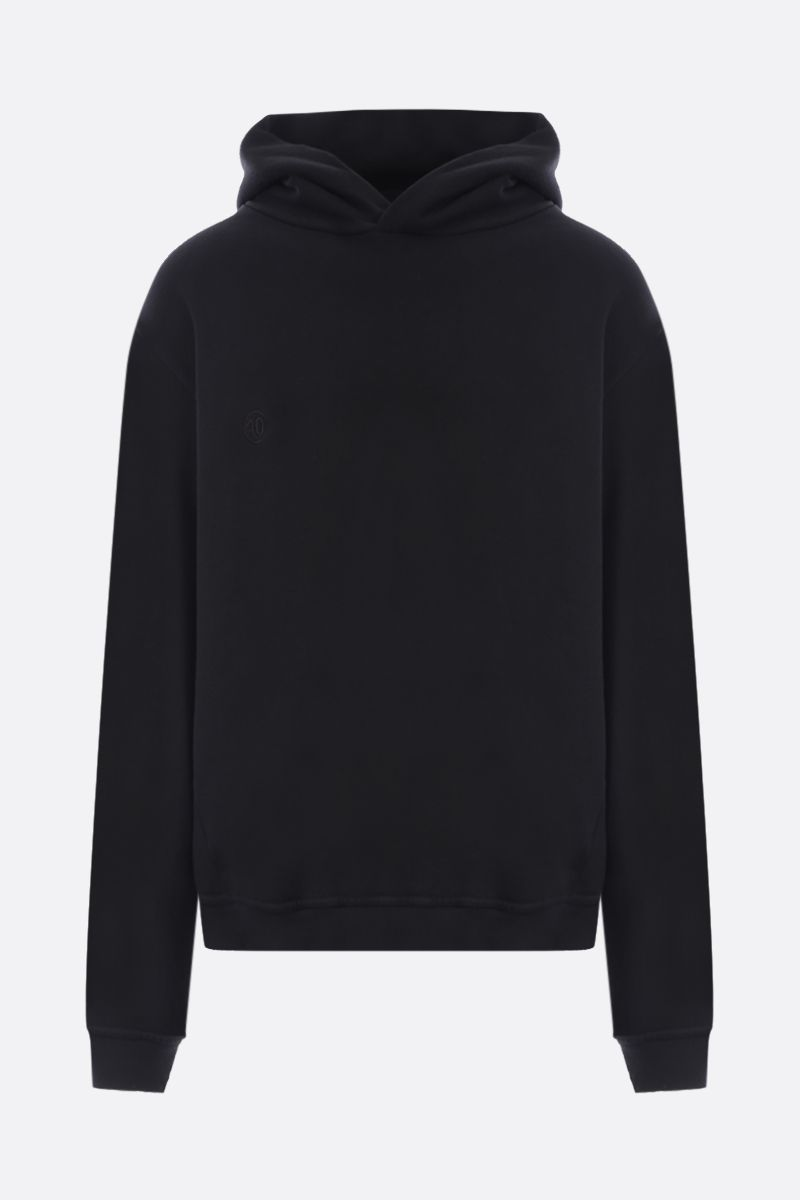 MAISON MARGIELA: numeric logo-detailed cotton oversize hoodie Color Black_1