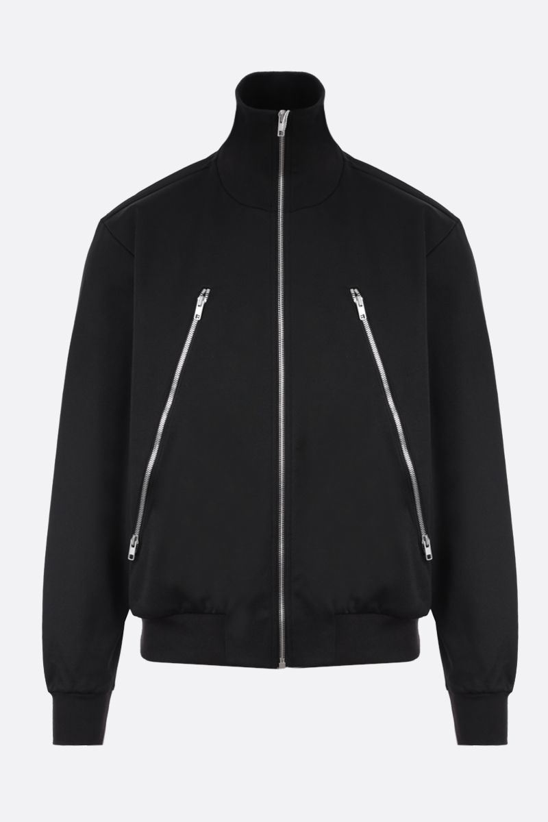 MAISON MARGIELA: technical cotton full-zip sweatshirt Color Black_1