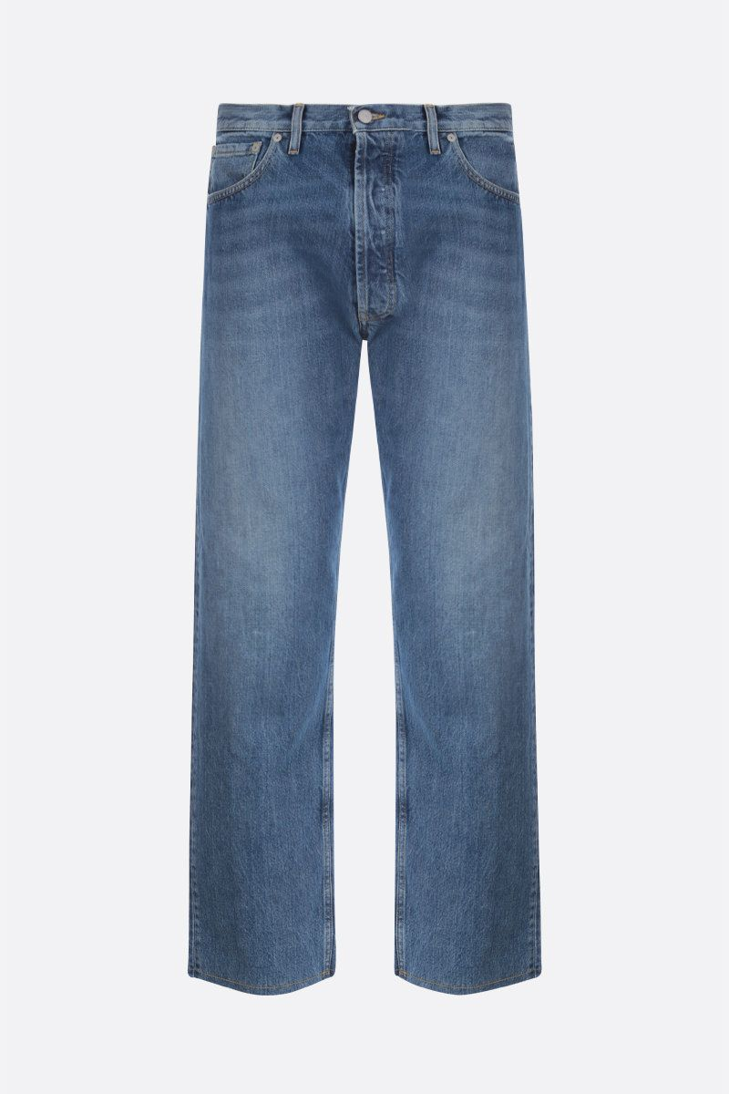 MAISON MARGIELA: frayed hem-detailed straight-fit jeans_1