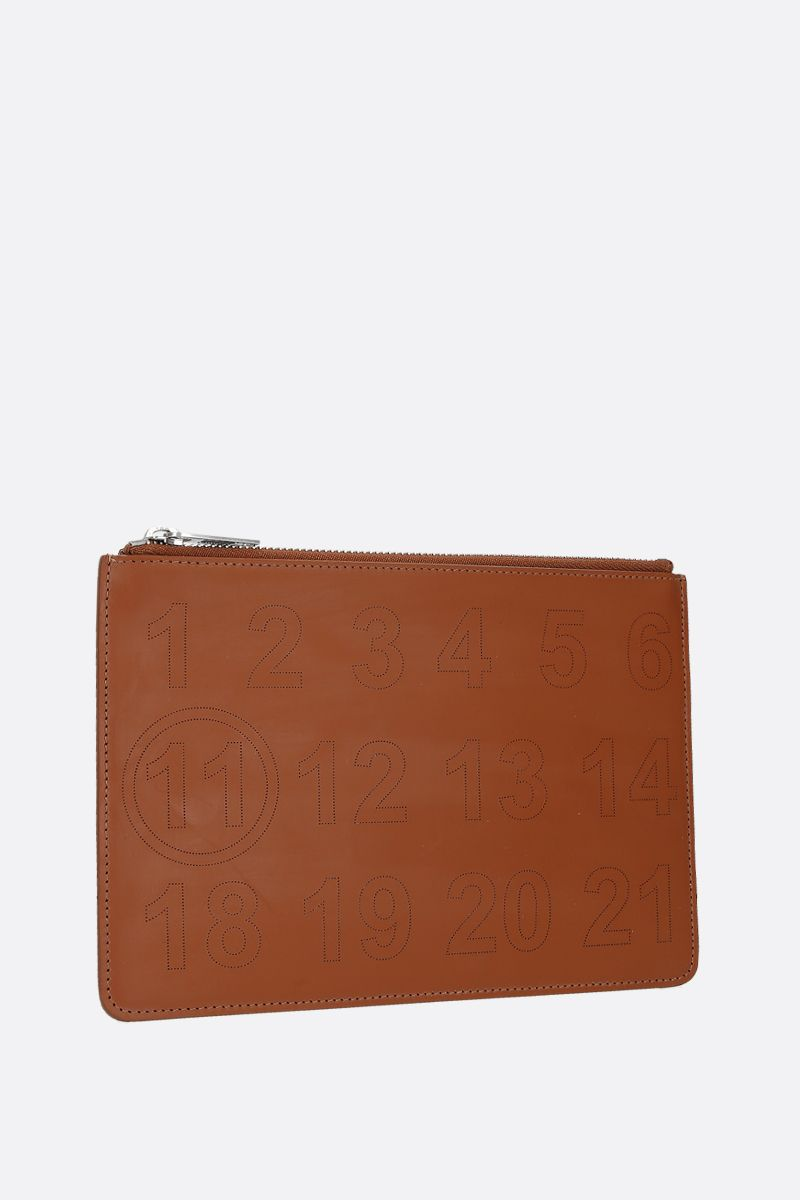 MAISON MARGIELA: smooth leather pouch Color Brown_2