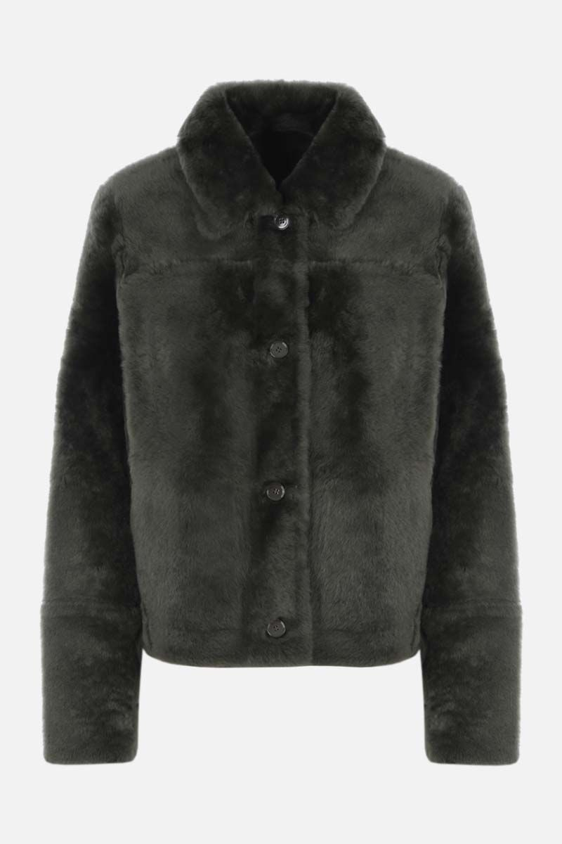 YVES SALOMON: reversible shearing jacket Color Green_1