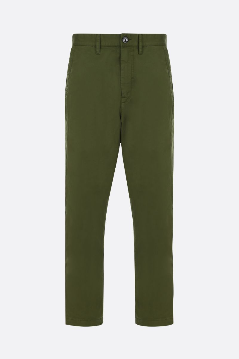 STONE ISLAND SHADOW PROJECT: logo badge-detailed stretch cotton cargo pants Color Green_1