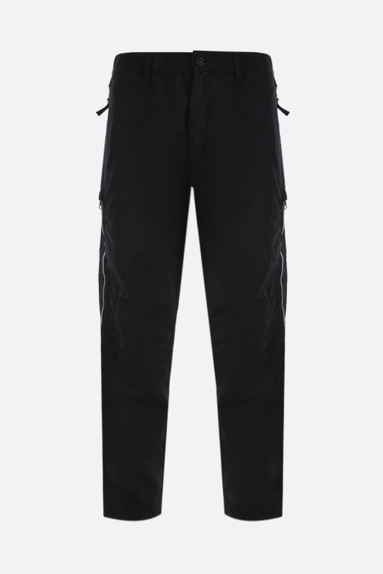 STONE ISLAND SHADOW PROJECT: zip-detailed nylon pants Color Black_1