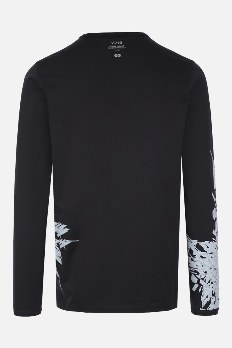 STONE ISLAND SHADOW PROJECT: t-shirt a maniche lunghe in cotone stampa grafica Colore Nero_2