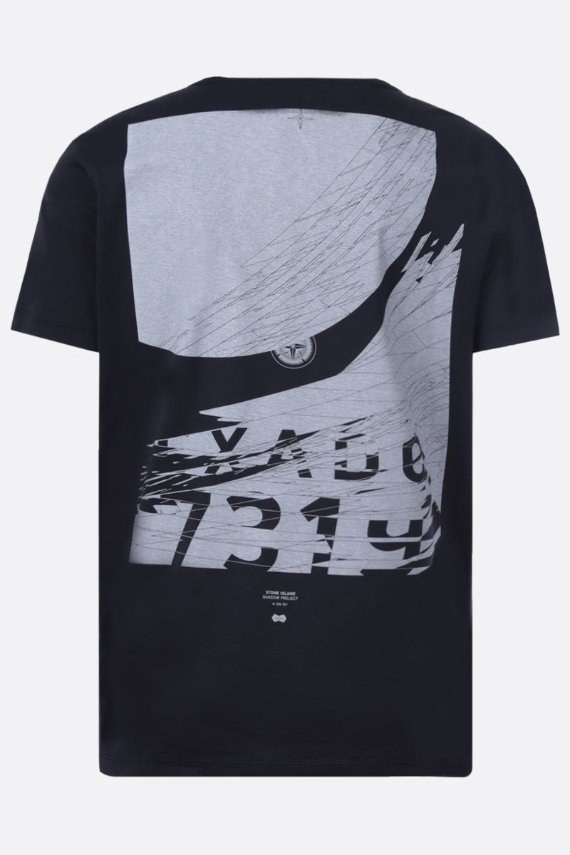 STONE ISLAND SHADOW PROJECT: graphic print cotton t-shirt Color Blue_2