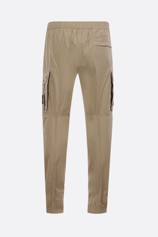 STONE ISLAND: logo badge-detailed stretch cotton joggers Color Neutral_2
