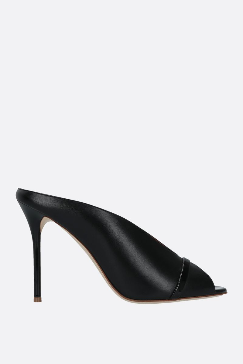 MALONE SOULIERS: Charlize soft nappa mules Color Black_1