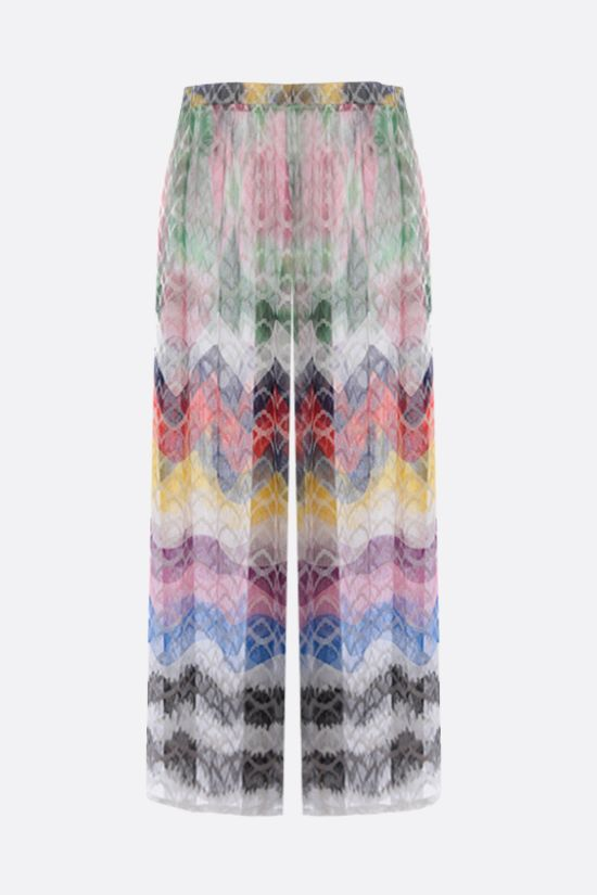 MISSONI: lightweight knit wide-leg pants Color Multicolor_2