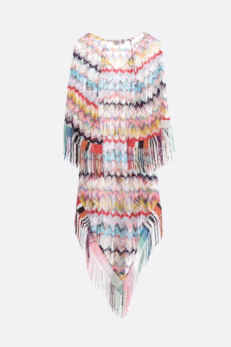 MISSONI: fringe-detailed lightweight caftan Color Multicolor_2