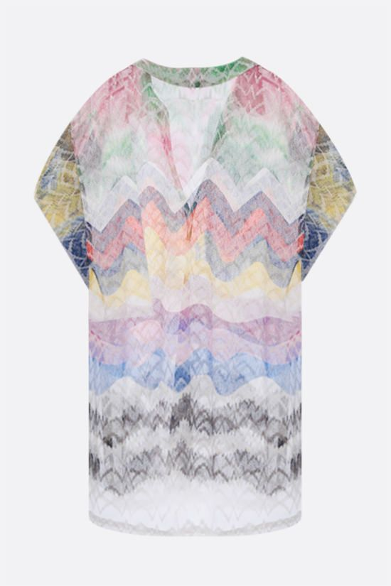 MISSONI: graphic-motif lightweight knit beach robe Color Multicolor_2