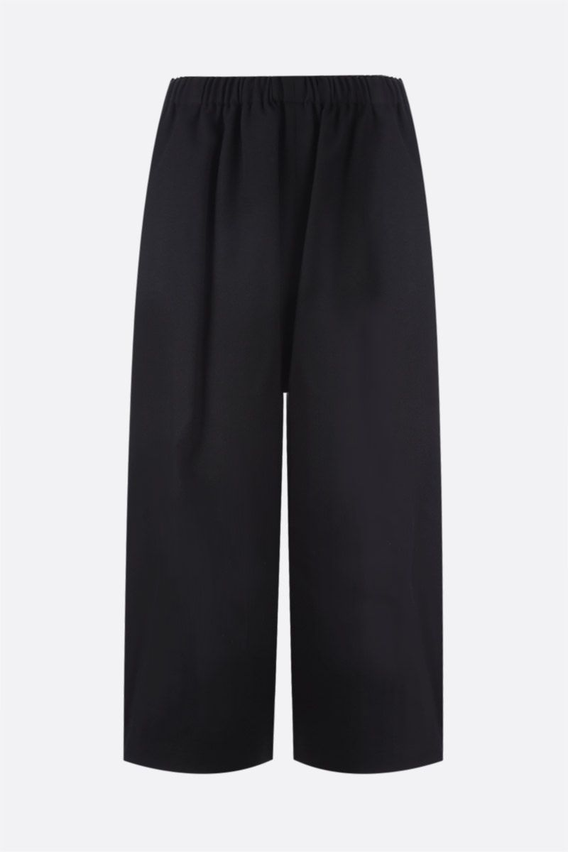COMME des GARCONS COMME des GARCONS: pantalone cropped a gamba ampia in lana Colore Black_1