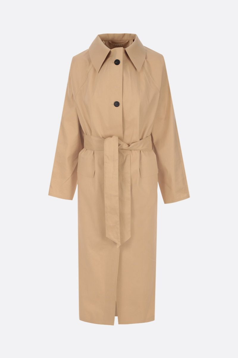 KASSL EDITIONS: technical cotton single-breasted trench coat Color Neutral_1