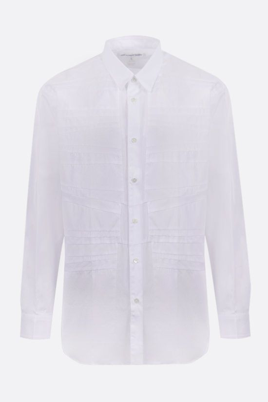 COMME des GARCONS SHIRT: pleated poplin shirt Color White_1
