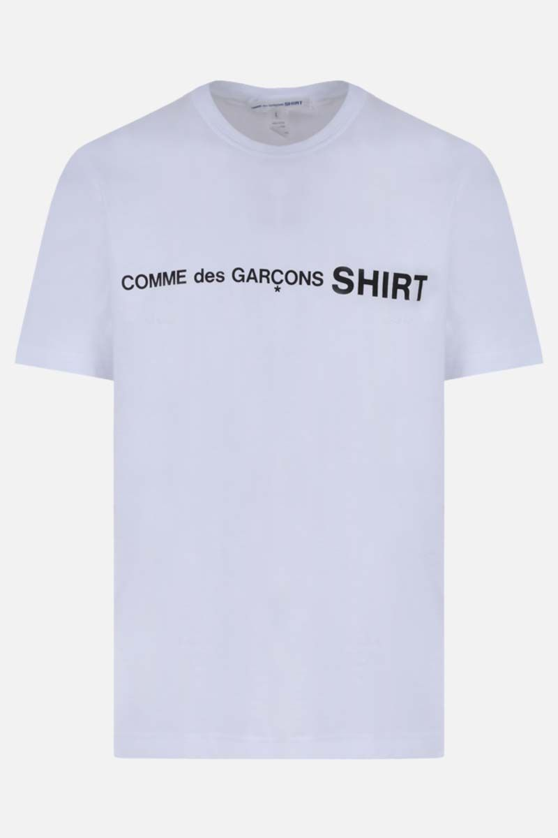 COMME des GARCONS SHIRT: logo print cotton t-shirt Color White_1