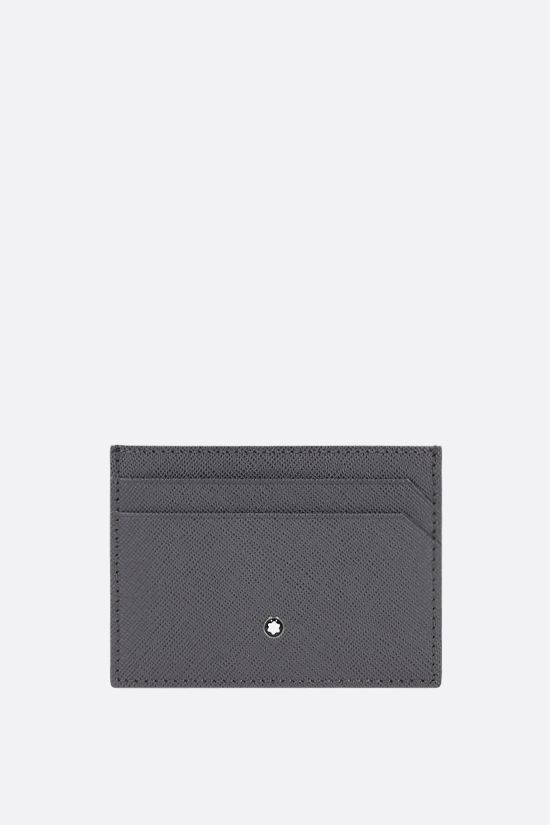 MONTBLANC: Montblanc Sartorial textured leather card case Color Grey_1
