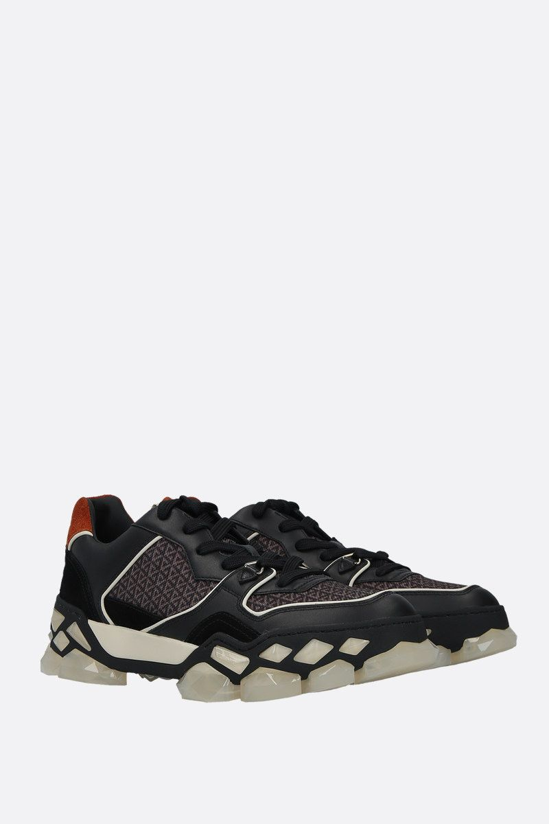 JIMMY CHOO: sneaker Diamond X/M in un mix di materiali Colore Nero_2