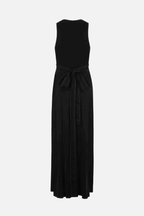 GOLDEN GOOSE DELUXE BRAND: Cleopatra jersey long dress Color Black_2