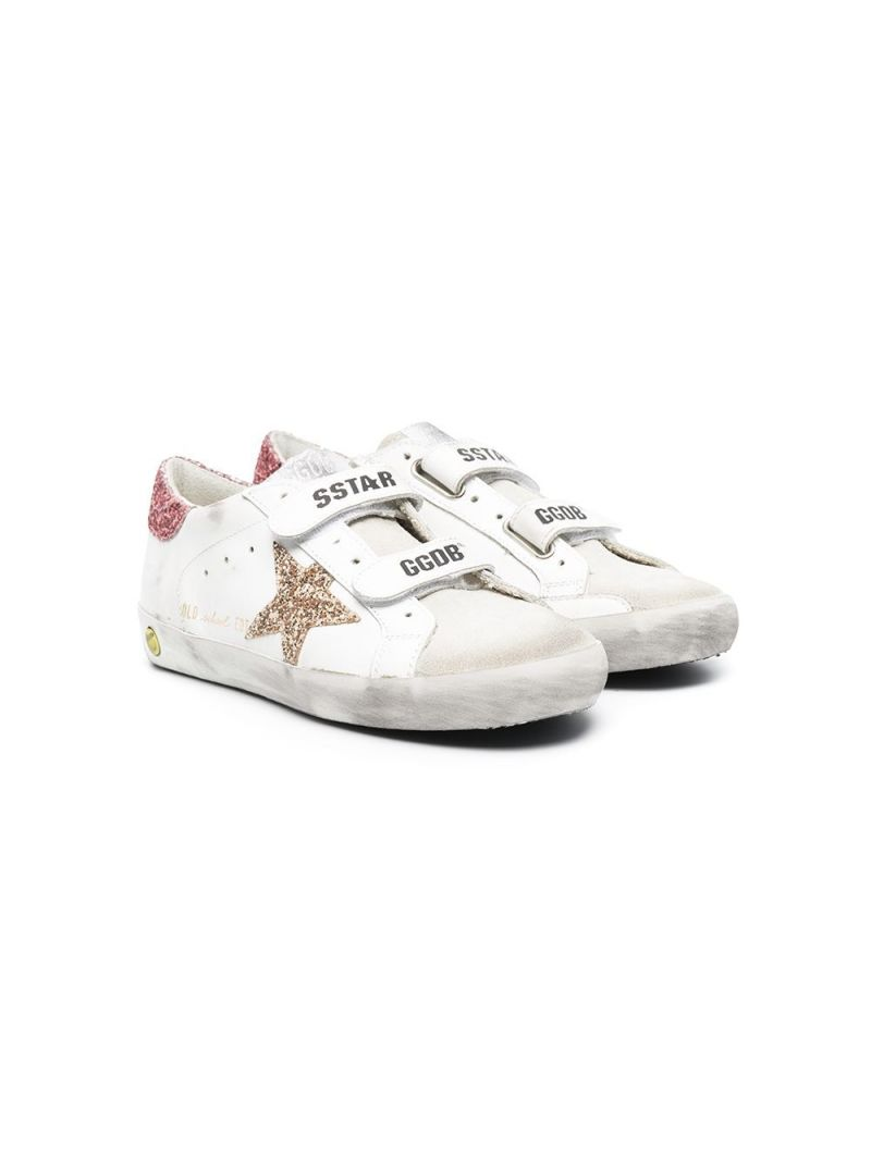GOLDEN GOOSE DELUXE BRAND KIDS: Superstar smooth leather and suede sneakers Color Multicolor_1
