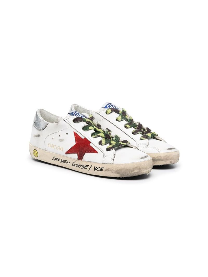 GOLDEN GOOSE DELUXE BRAND KIDS: Superstar smooth leather sneakers Color Multicolor_1