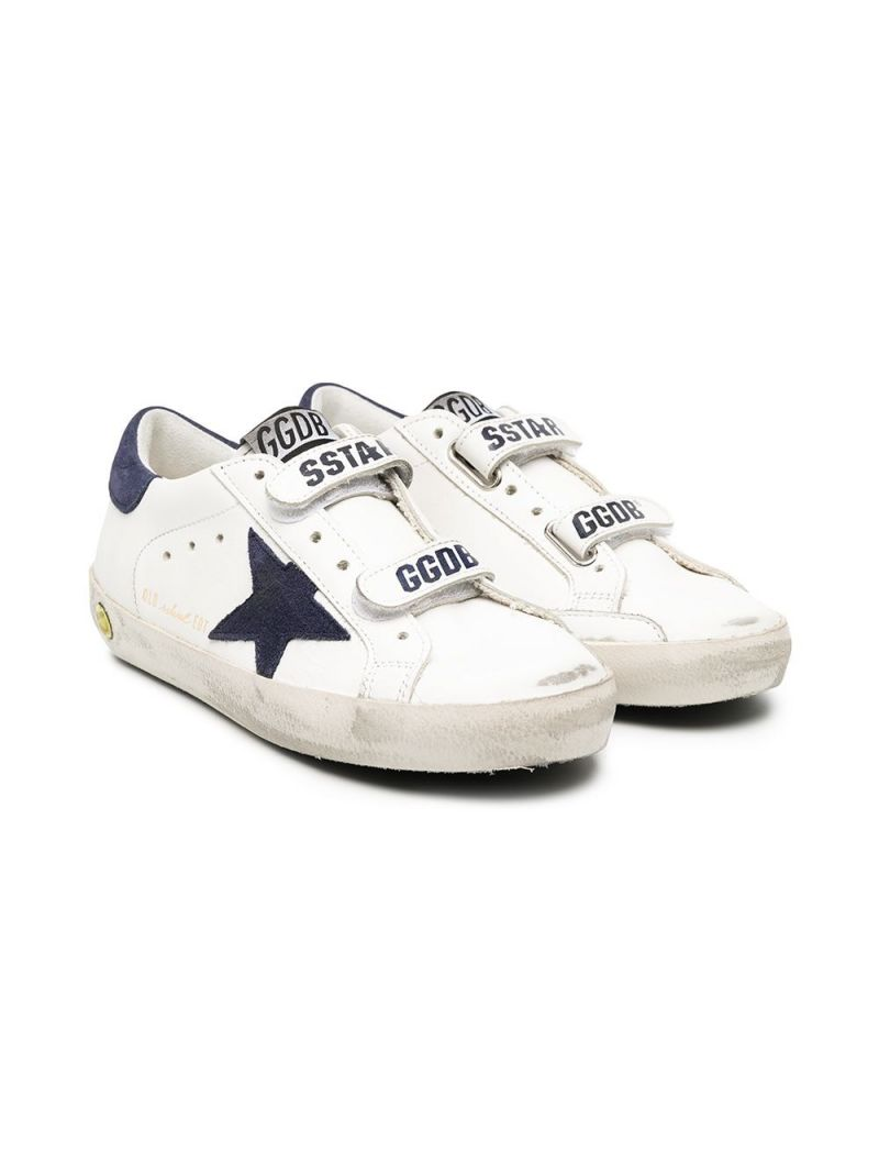 GOLDEN GOOSE DELUXE BRAND KIDS: Superstar smooth leather sneakers Color White_1
