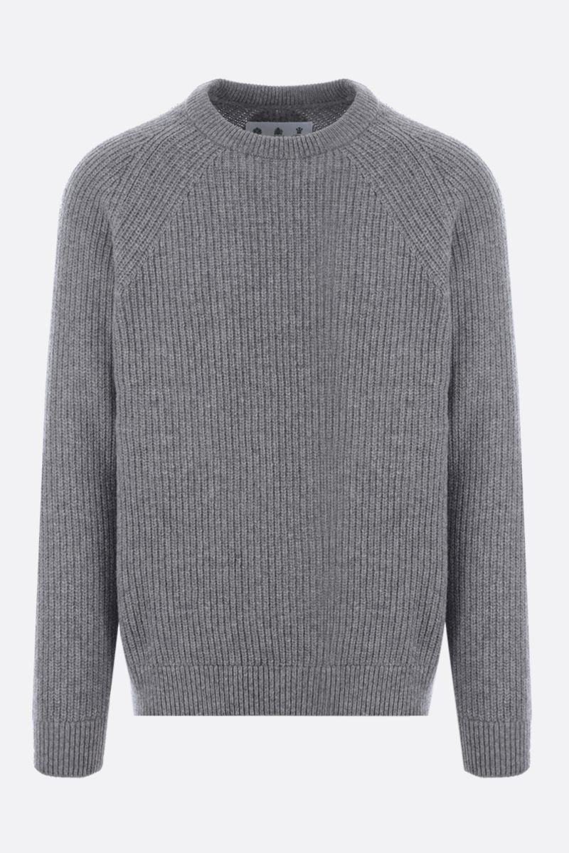 BARBOUR MADE FOR JAPAN: wool pullover Color Grey_1