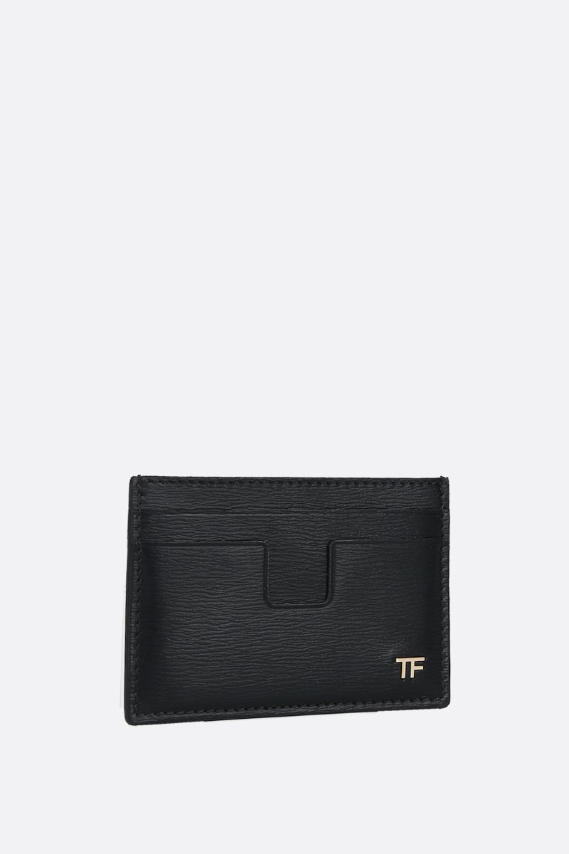 TOM FORD: textured leather card case Color Black_2
