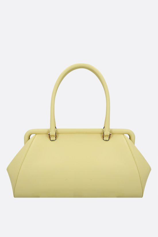 SALVATORE FERRAGAMO: Frame smooth leather handbag Color Yellow_1