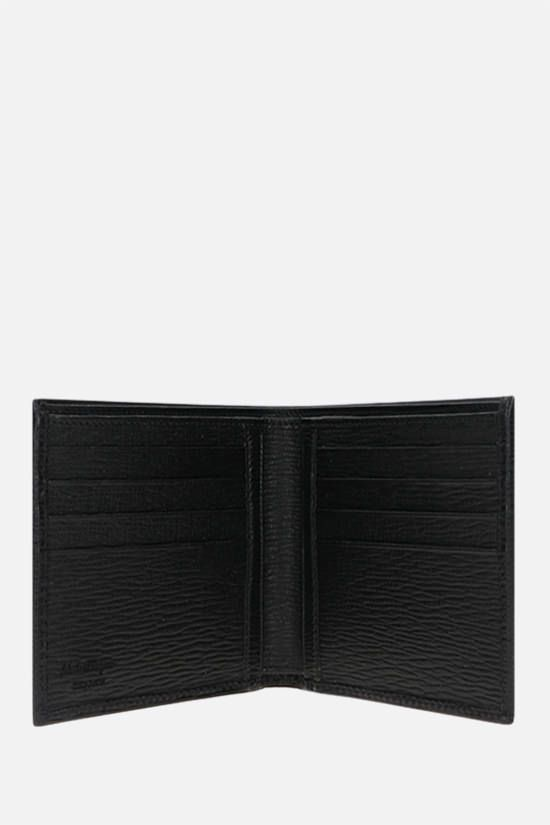 SALVATORE FERRAGAMO: Gancini logo-detailed textured leather billfold wallet Color Black_2