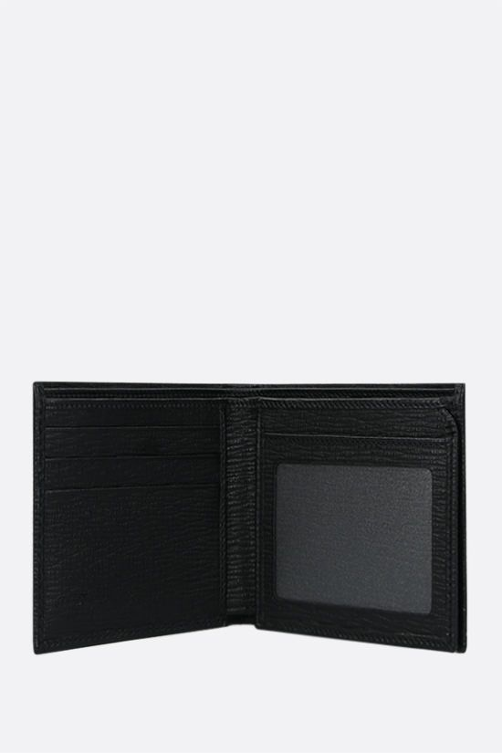 SALVATORE FERRAGAMO: Gancini-detailed textured leather billfold wallet Color Black_2