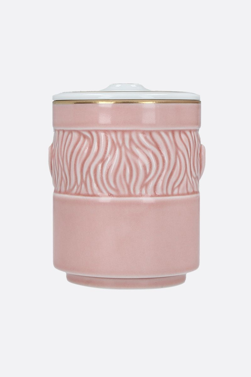 GINORI 1735: Il Seguace porcelain candle holder with cover Color Pink_2