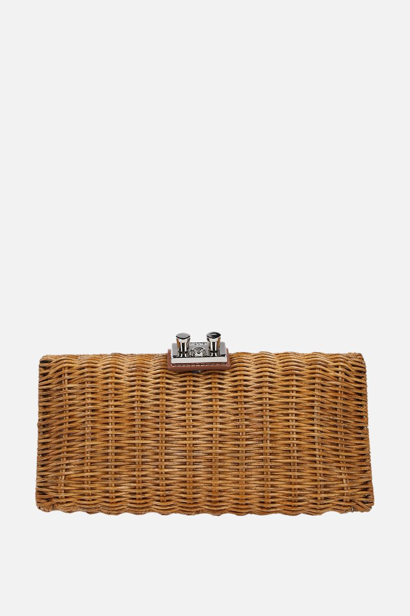 RODO X 10 CORSO COMO: woven straw clutch Color Brown_1