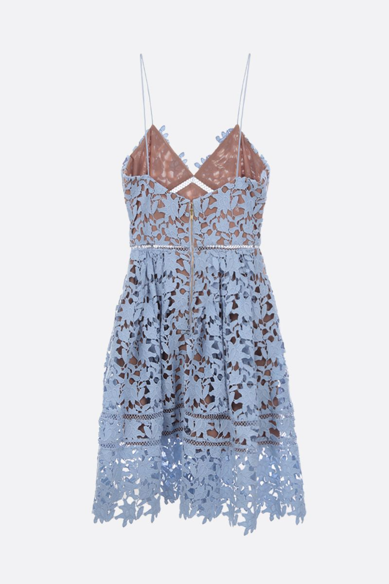 SELF PORTRAIT: Azaelea lace minidress Color Blue_2