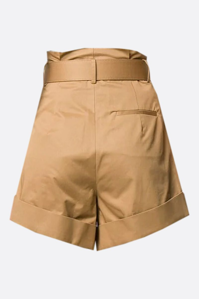 SELF PORTRAIT: cotton darted shorts Color Neutral_2