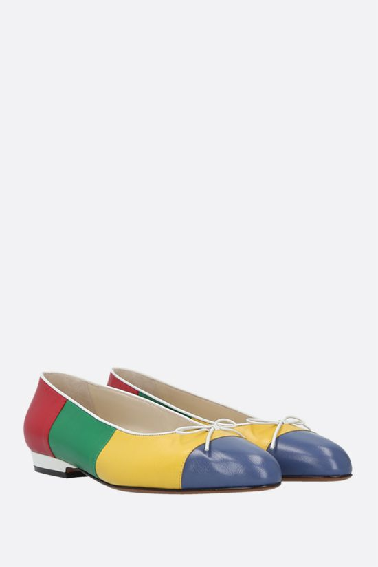 FERRAGAMO'S CREATIONS: Curiosa smooth leather ballerinas Color Multicolor_2