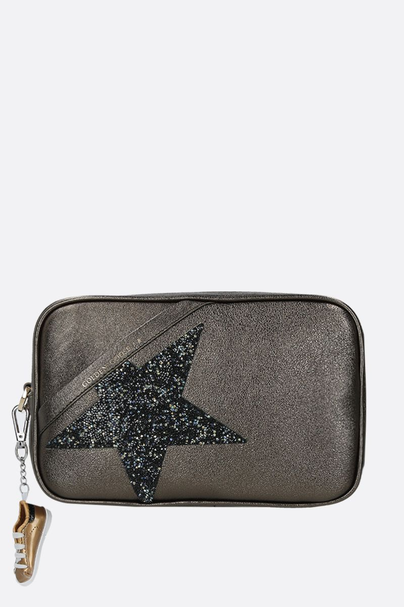 GOLDEN GOOSE DELUXE BRAND: Star laminated leather crossbody bag Color Green_1