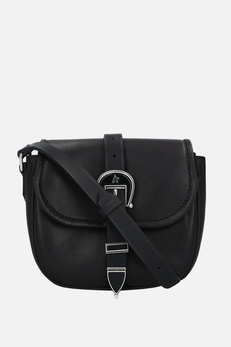 GOLDEN GOOSE DELUXE BRAND: Rodeo small smooth leather shoulder bag Color Black_1