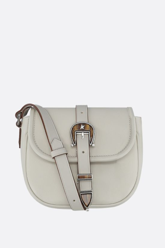 GOLDEN GOOSE DELUXE BRAND: Rodeo small smooth leather shoulder bag Color White_1