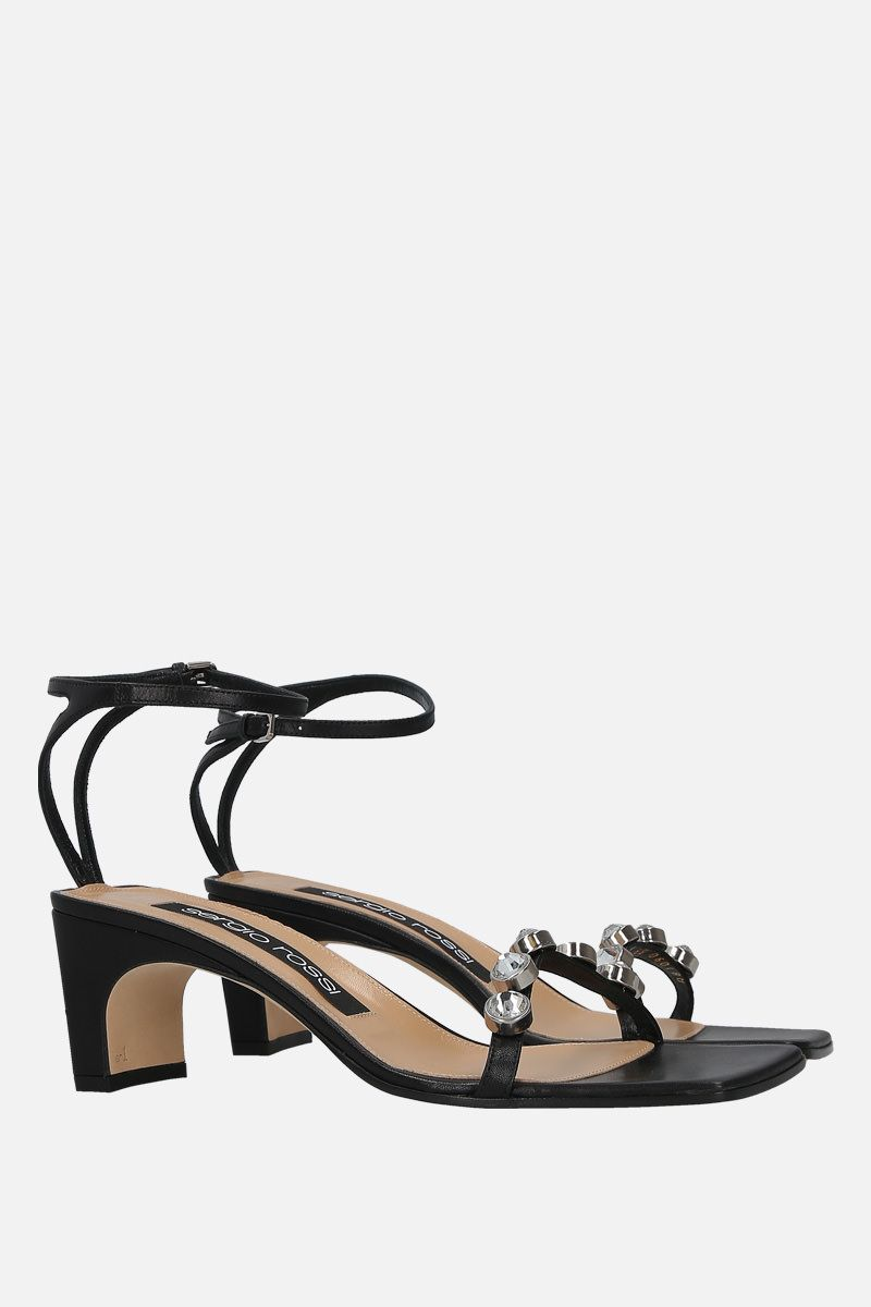 SERGIO ROSSI: SR1 nappa leather sandals Color Black_2