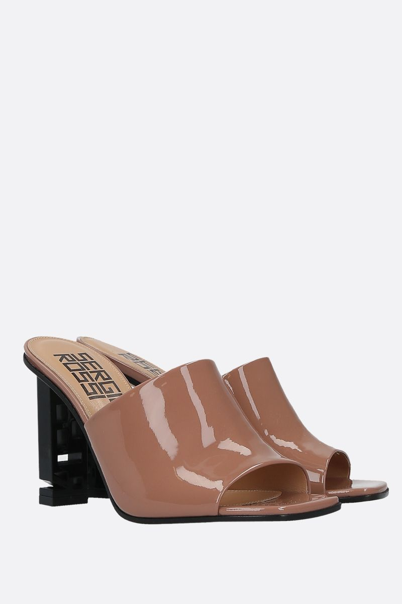 SERGIO ROSSI: Sergio Super Heel patent leather mules_2