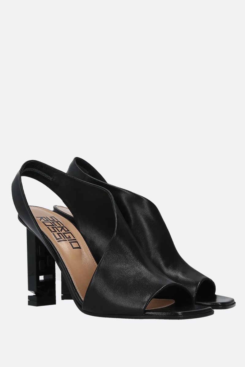 SERGIO ROSSI: Sergio Super Heel nappa leather sandals Color Black_2