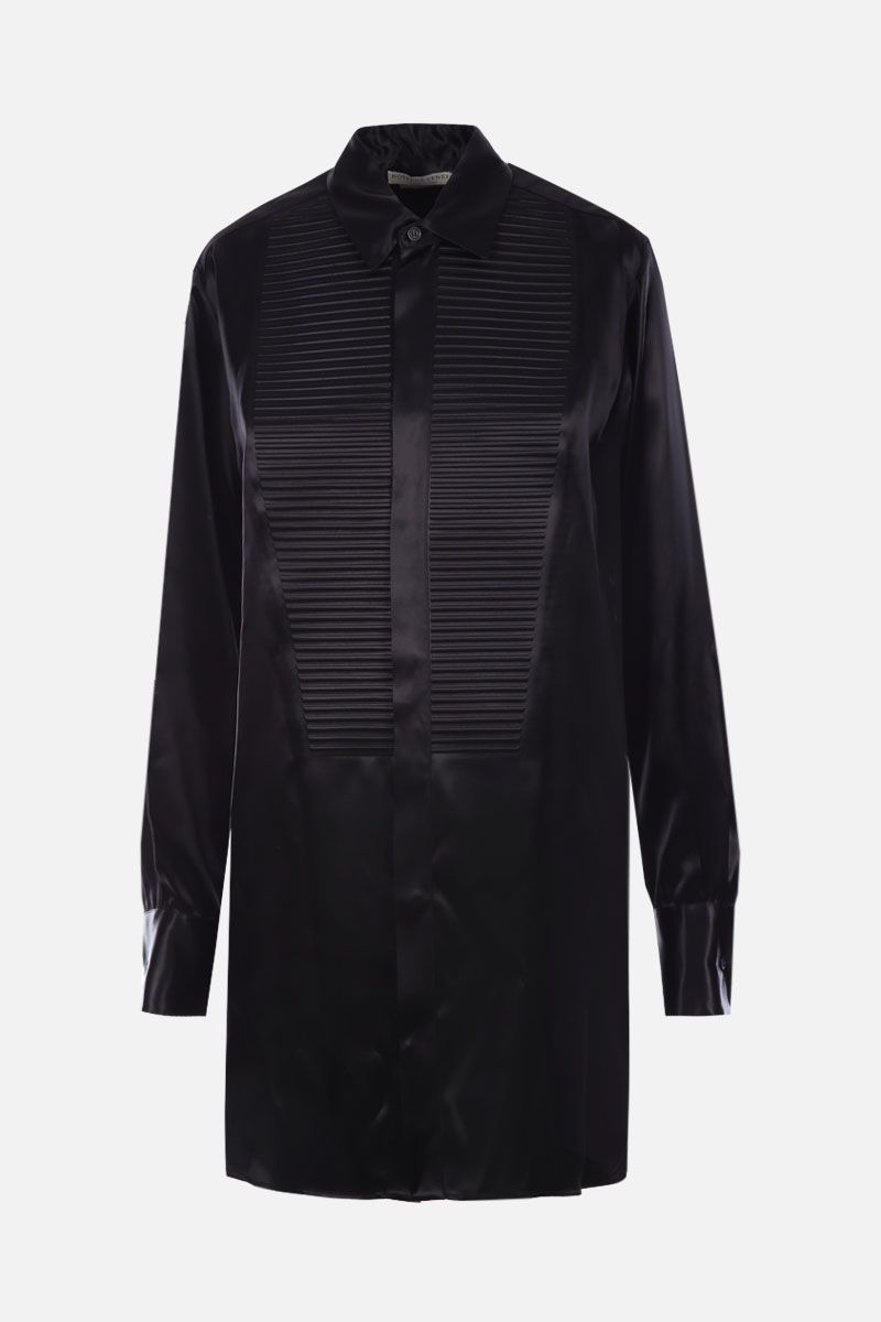 BOTTEGA VENETA: camicia smoking in raso Colore Nero_1