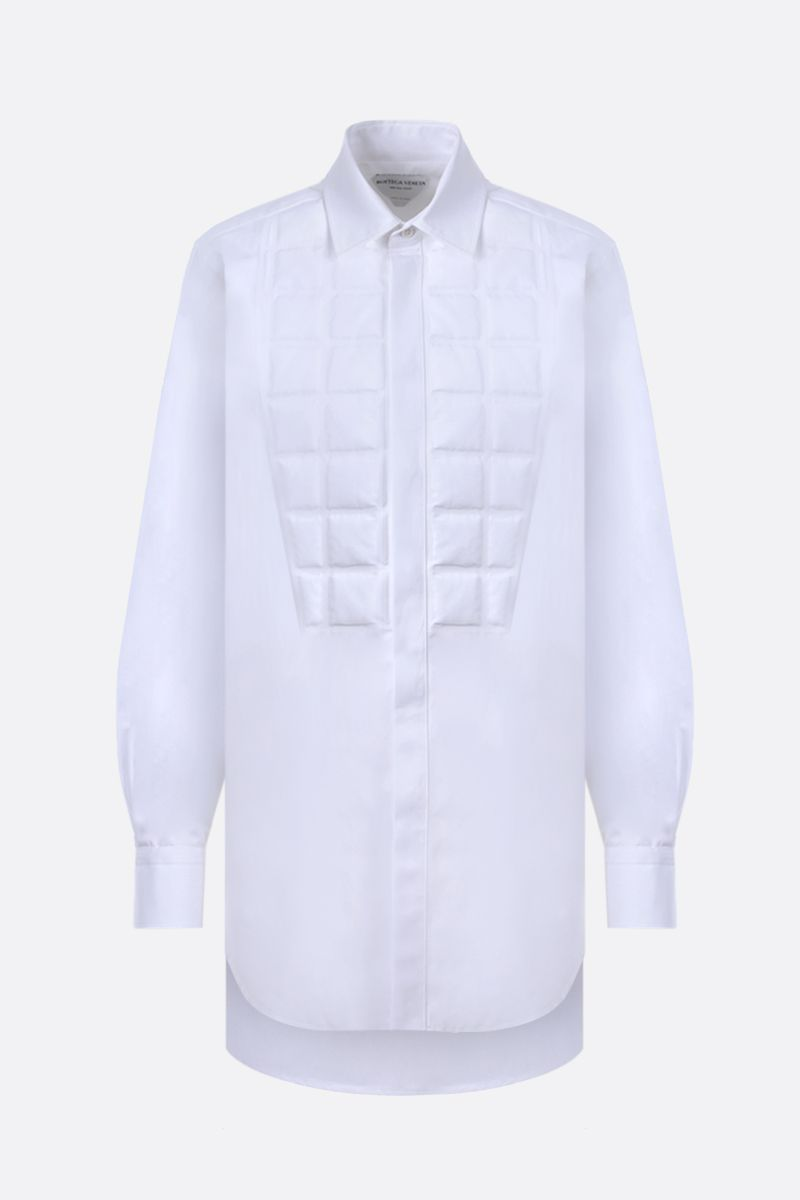 BOTTEGA VENETA: quilted panel cotton shirt Color White_1