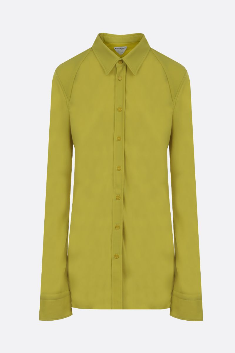 BOTTEGA VENETA: jersey crepe shirt Color Green_1