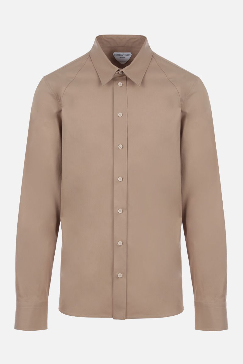 BOTTEGA VENETA: regular-fit stretch cotton shirt Color Neutral_1