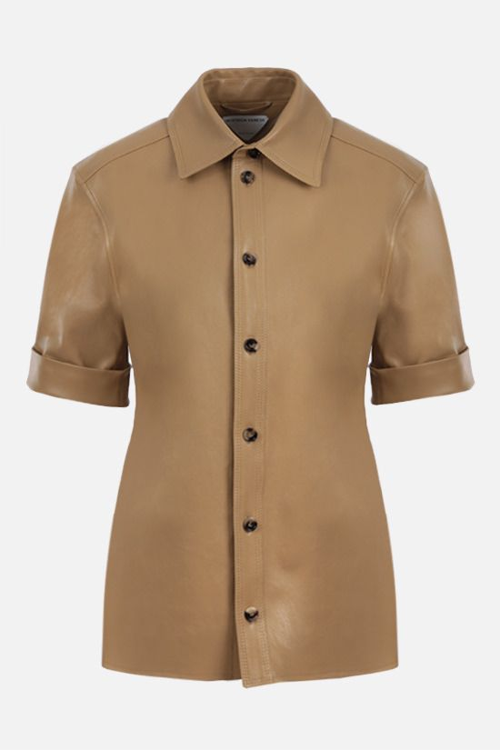 BOTTEGA VENETA: soft nappa short-sleeved shirt Color Neutral_1