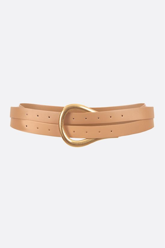 BOTTEGA VENETA: smooth leather long belt Color Neutral_1