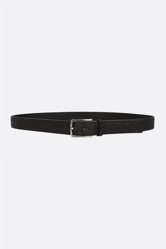 BOTTEGA VENETA: Intrecciato VN belt Color Brown_1