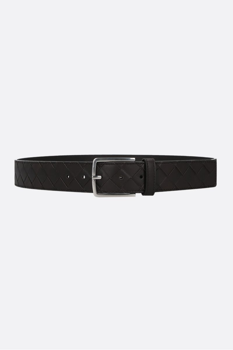 BOTTEGA VENETA: Intrecciato VN classic belt Color Brown_1