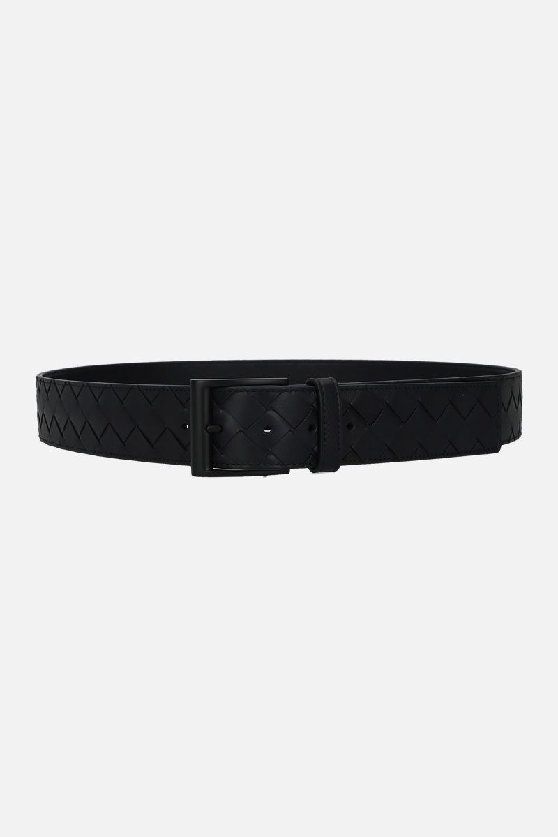 BOTTEGA VENETA: Intrecciato VN classic belt Color Blue_1