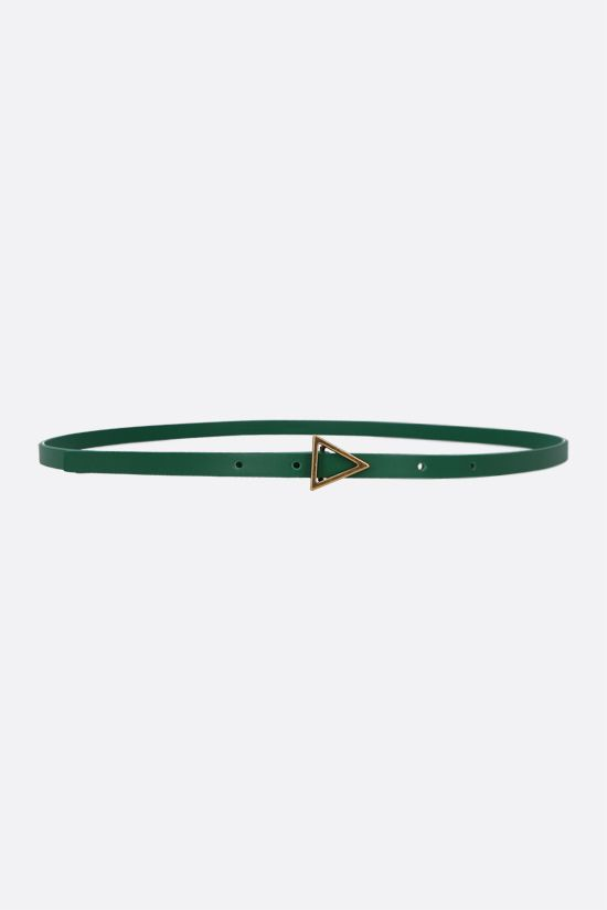 BOTTEGA VENETA: smooth leather thin belt Color Green_1